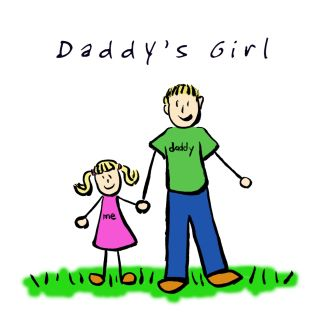 Daddy's Girl Family Art (Blond)