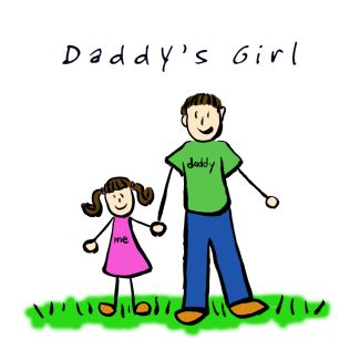 Daddy's Girl Illustration (Brunette)