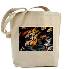 Swimming Koi Fish Canvas Bag